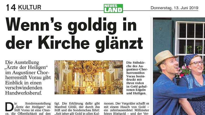 Read more about the article Wenn's goldig in der Kirche glänzt – Neues Land