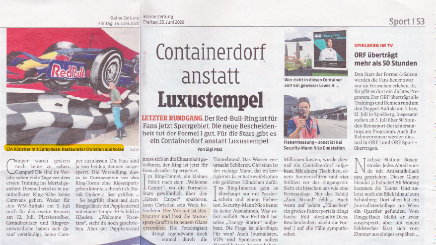 Read more about the article Graffiti Red Bull Ring 2020 – Kleine Zeitung